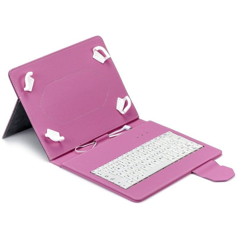 "Maillon Urban Funda Teclado USB-C Rosa para Tablet hasta 10,2"""