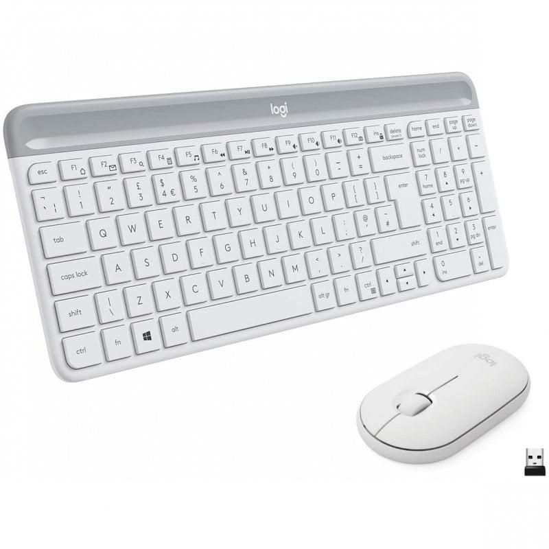 Logitech MK470 Slim Combo Teclado + Ratón Inalámbricos Blanco