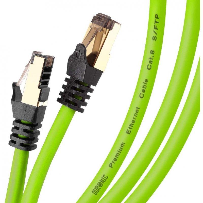 Duronic Cable De Red SFTP Cat8 5m Verde