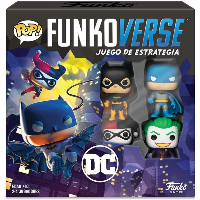 Funko Funkoverse 101 DC Edition Batman, Batgirl, Harley Quinn y Joker