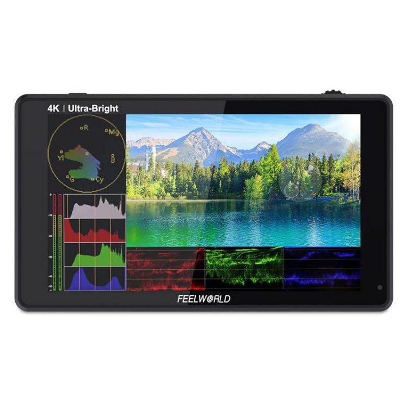 """Feelworld LUT 6S Monitor de Cámara con Pantalla Táctil 6"""" 2600nit SDI HDR"""