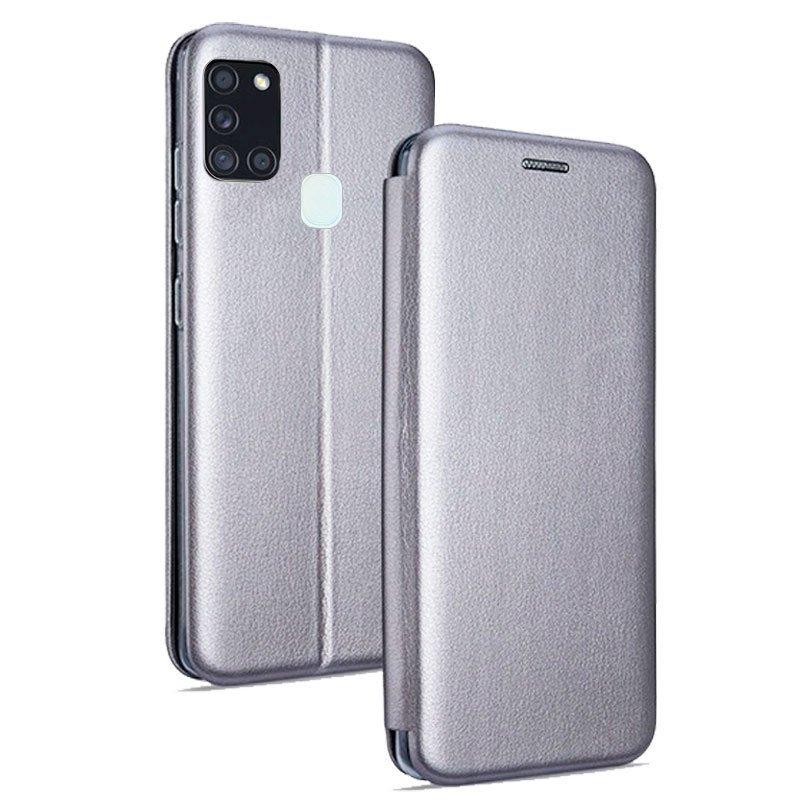 Cool Funda Flip Cover Elegance Plata Para Samsung Galaxy A21s