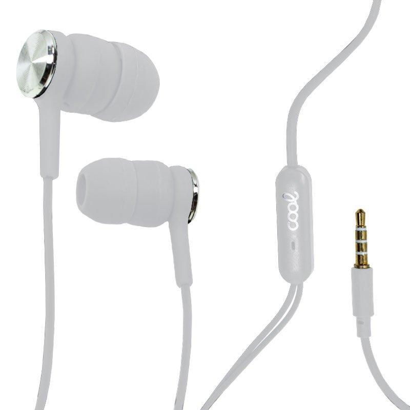 Cool Bali Auriculares Con Micrófono Blanco