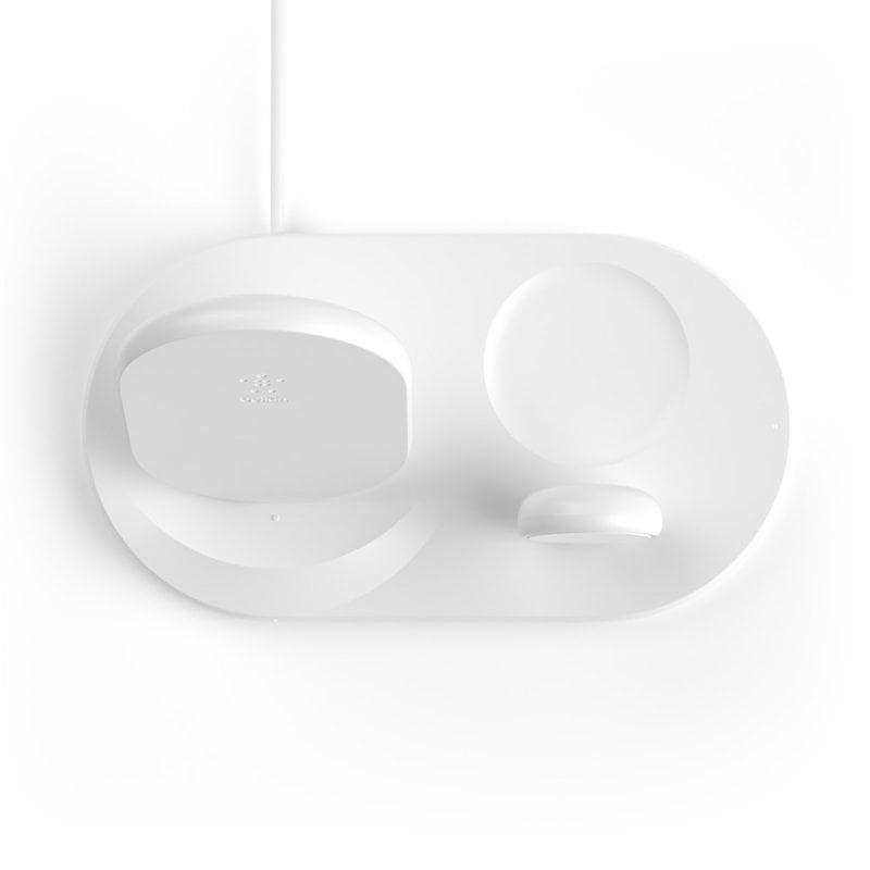 Carregador Wireless Belkin 3 em 1 - Branco