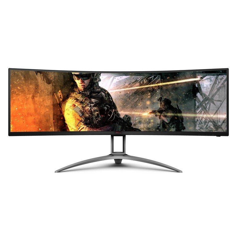 "Monitor AOC AGON AG493UCX 49"" LED DQHD 120Hz FreeSync Premium Pro Curvo"