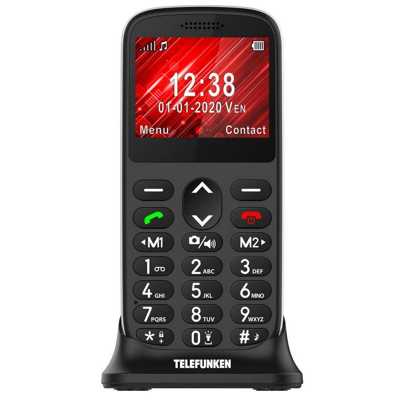Telefunken S420 Teléfono para Mayores Negro Libre