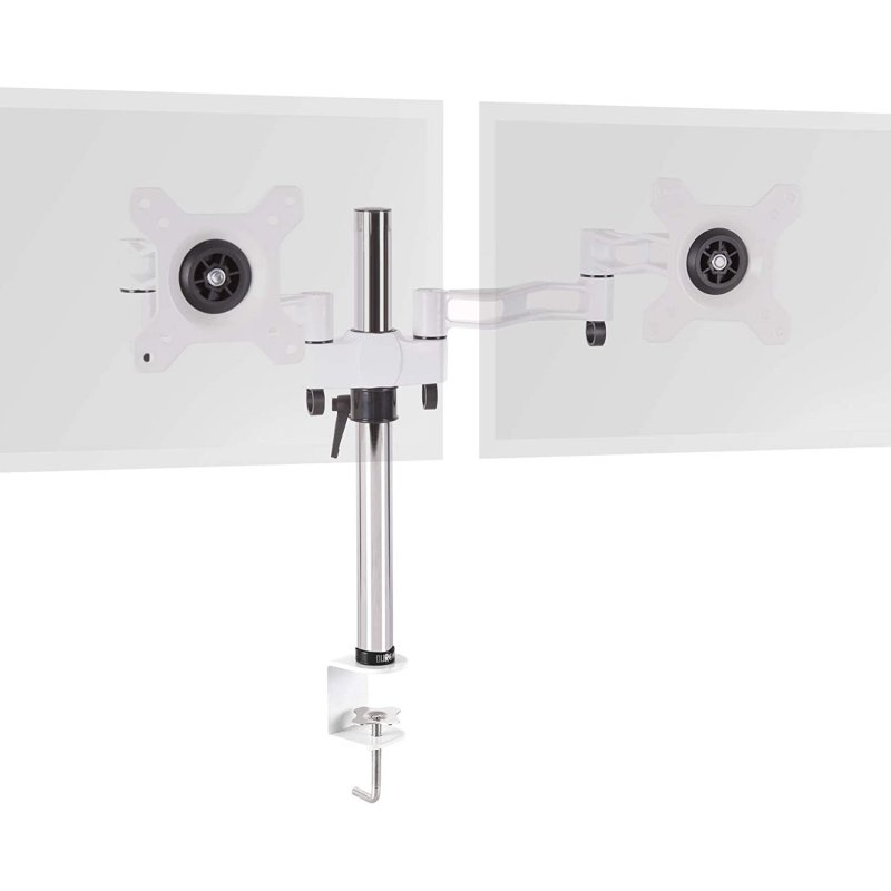 "Duronic DM352 WE Soporte de Mesa 2 Monitores 13""-27"" VESA 100x100 Máx 8kg"
