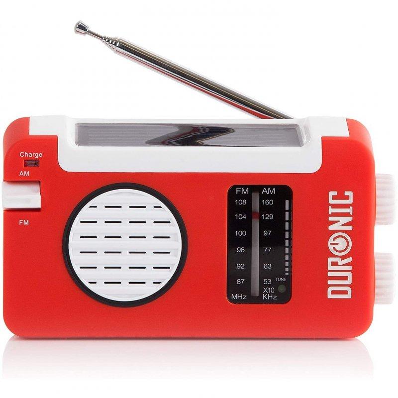 Duronic Hybrid Radio AM/FM Con Carga Solar/Dinamo