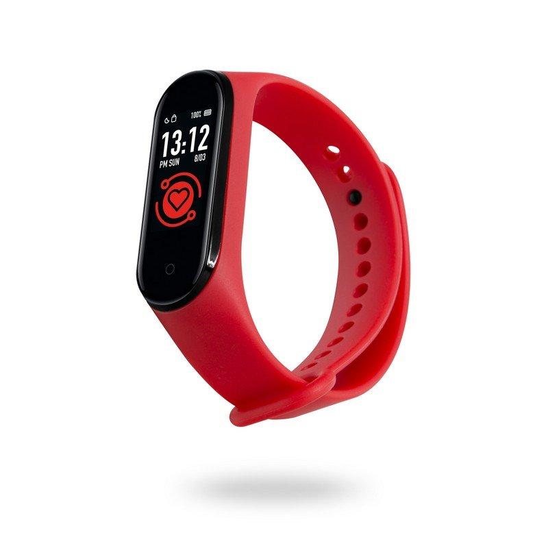 Unotec Smartband 6T Pulsera de Actividad Roja
