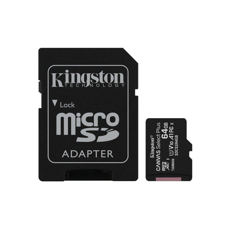 Kingston Canvas Select Plus MicroSDXC UHS-I 64GB Clase 10