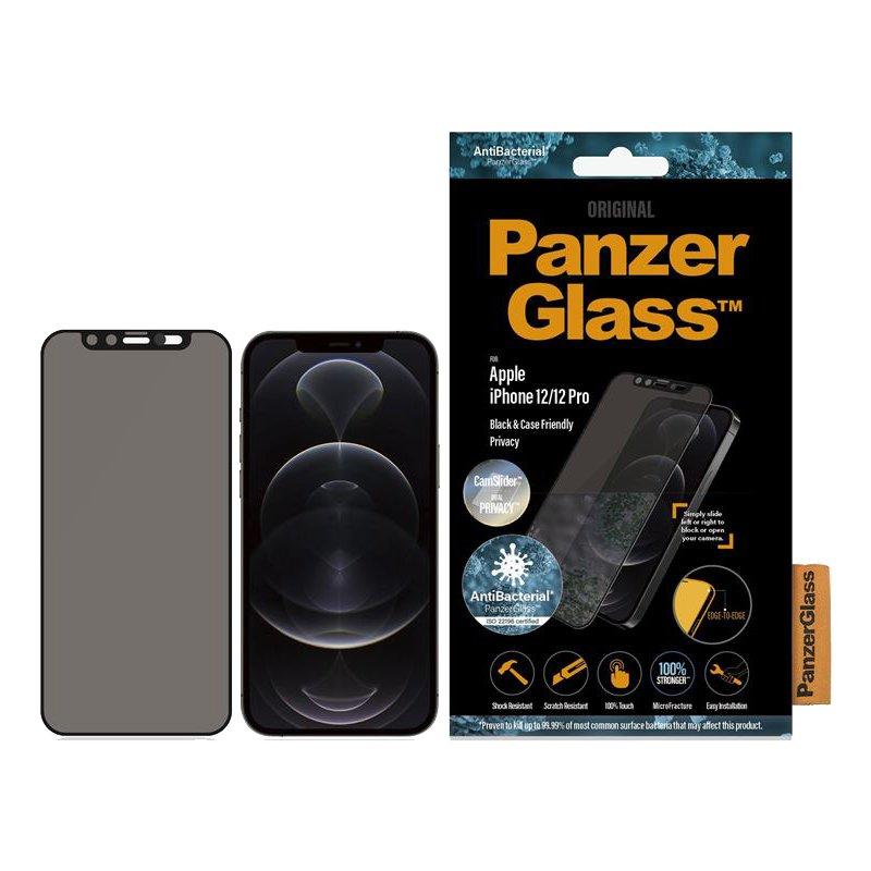 PanzerGlass P2715 Protector de Pantalla para iPhone 12 Pro Max Negro