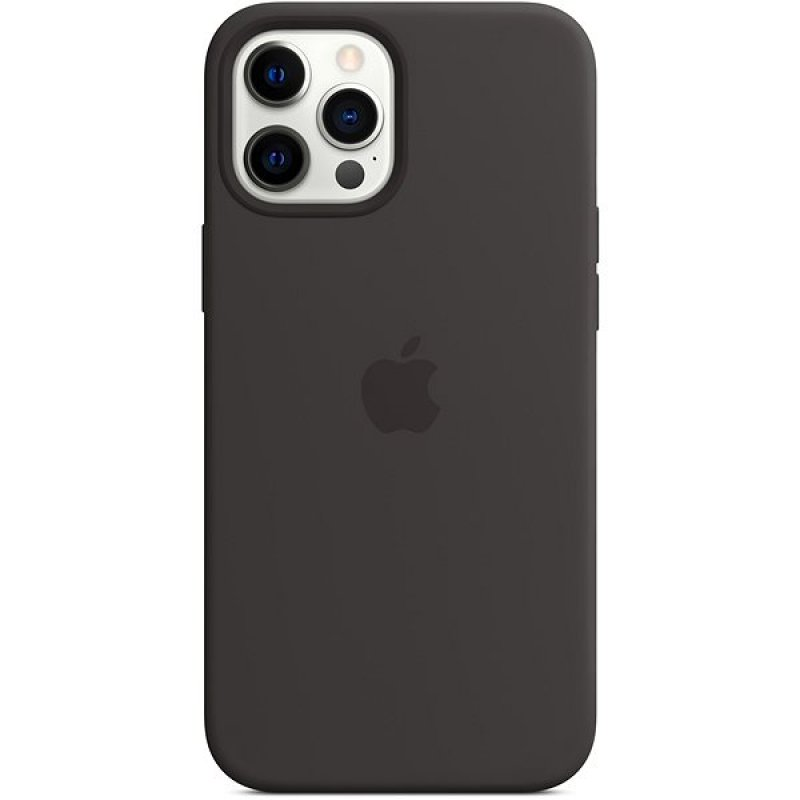 Apple MagSafe Silicona Negra Para IPhone 12 Pro Max
