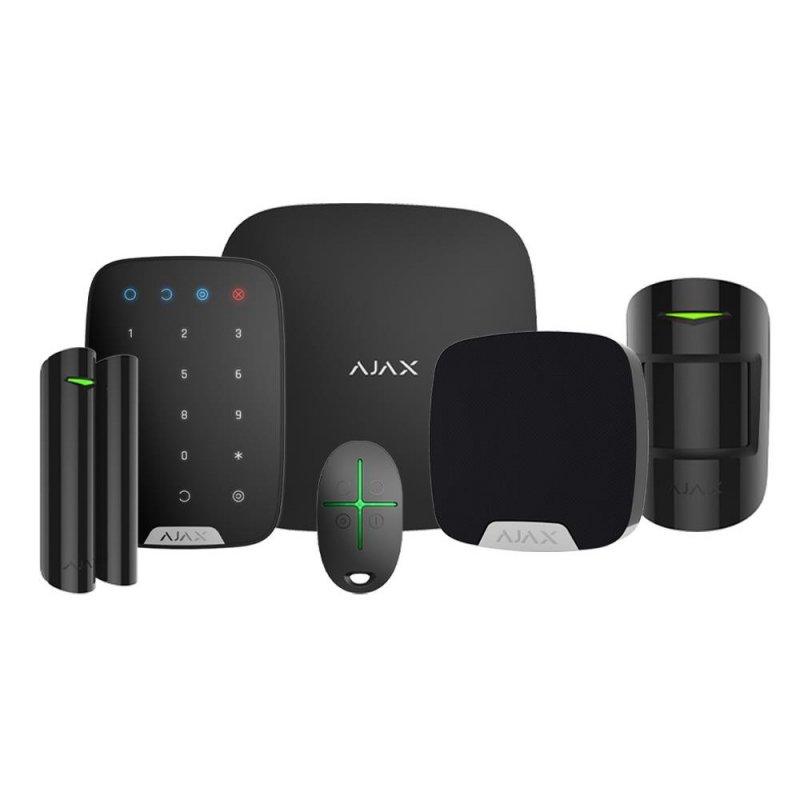 Ajax Kit de Alarma Inalámbrica Profesional Negra Grado 2 con Detector PIR - Smarthome-Alarmas-Ajax