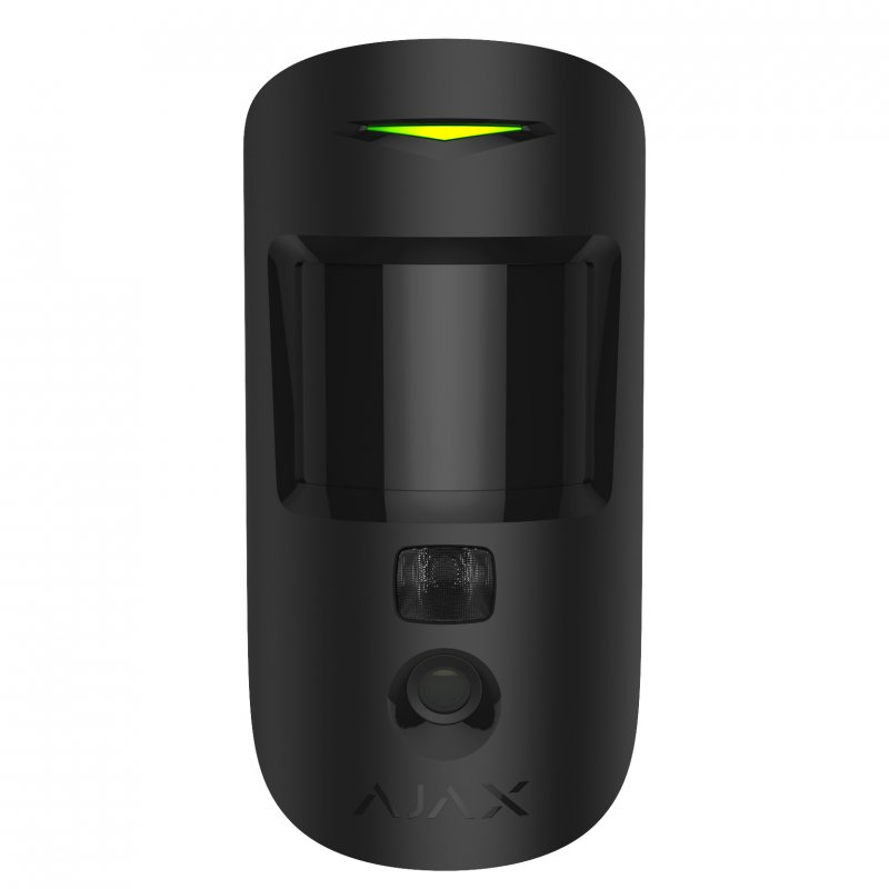 Ajax MotionCam Sensor de Movimiento PIR con Cámara Negro - Smarthome-Alarmas-Ajax