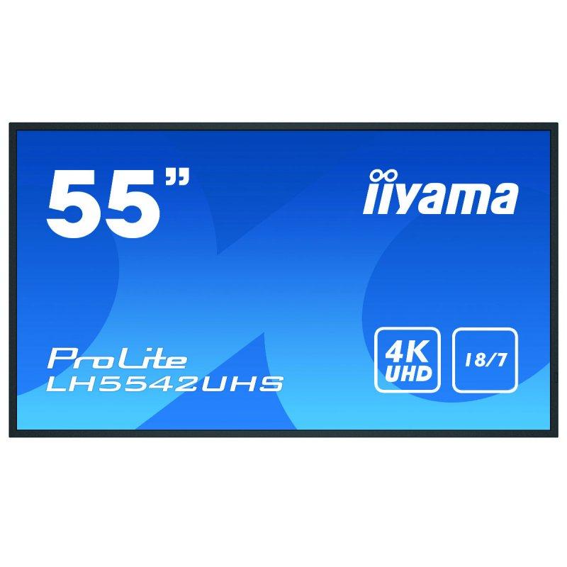 "Iiyama ProLite LH5542UHS-B1 54.6"" Pantalla De Señalización Digital LED IPS 4K UltraHD"