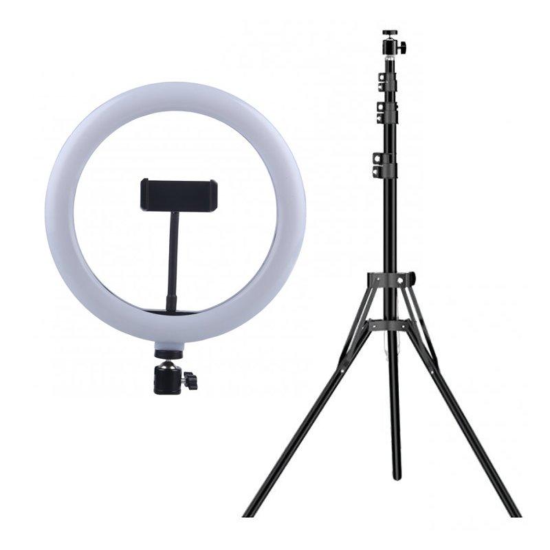 "Fluxs Saturno Pack Anillo LED de 12"" Regulable + Trípode de Altura Regulable"