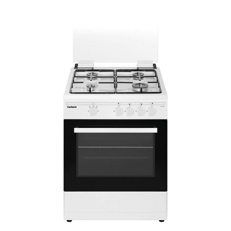 Corberó CCSF60420BW Cocina de Gas Butano 4 Zonas + Horno Blanco - Electrodomésticos y Hogar-Cocinas-Corberó