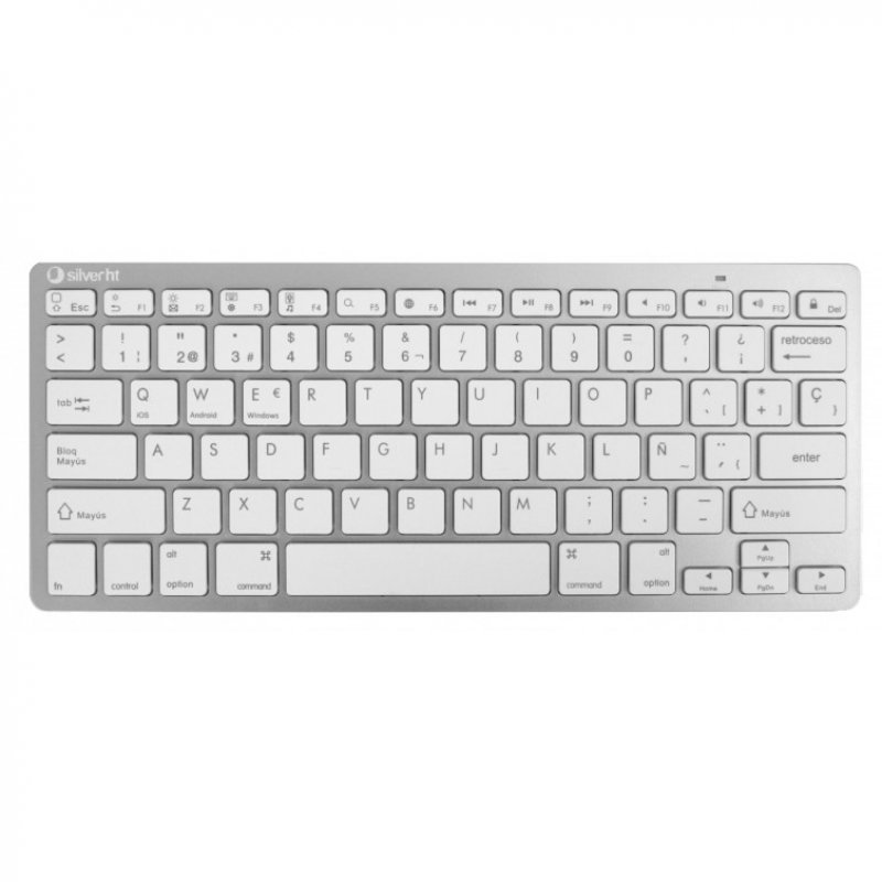 Teclado Wireless Silver HT Colors Edition Blanco
