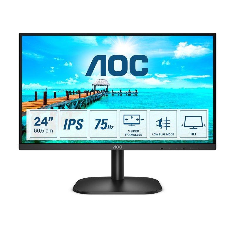 """Monitor AOC 24B2XDA 23.8"""" LED IPS FullHD 75Hz"""