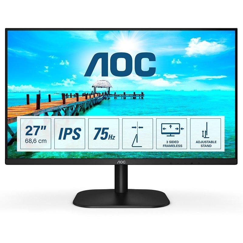 """Monitor AOC 27B2DA 27"""" LED IPS FullHD 75Hz"""