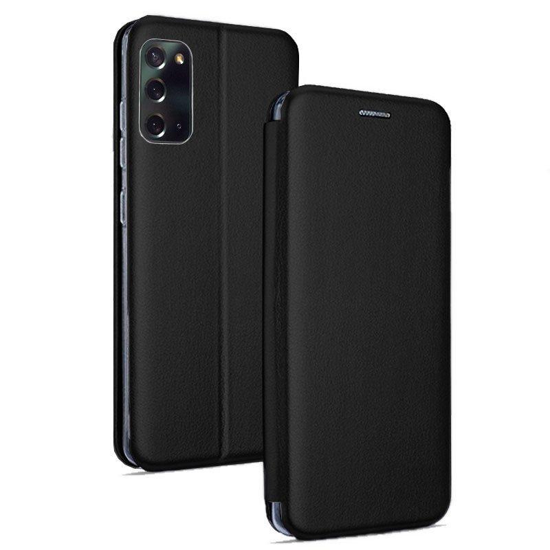 Cool Funda Flip Cover Elegance Negra Para Xiaomi Redmi 9
