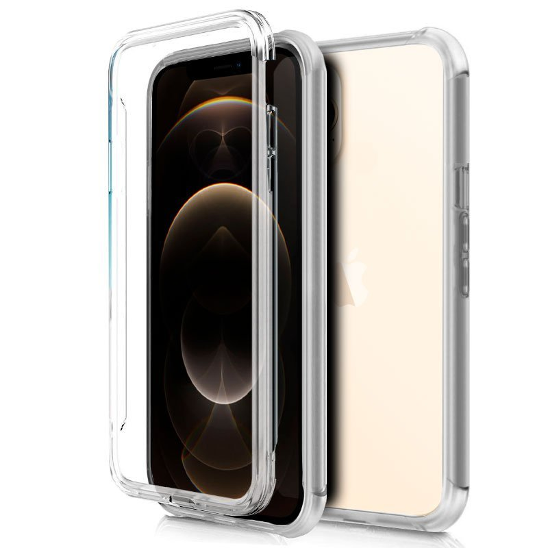 Cool Funda Silicona 3D Transparente Trasera Y Delantera IPhone 12 Pro Max