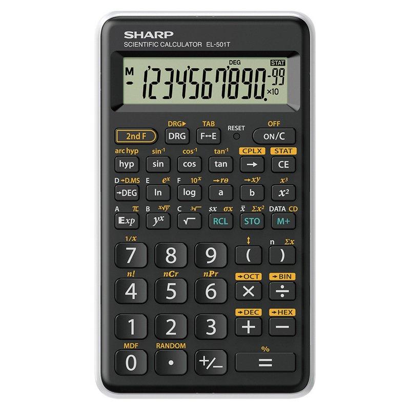 Sharp EL-501T Calculadora Científica 12 Dígitos Blanca