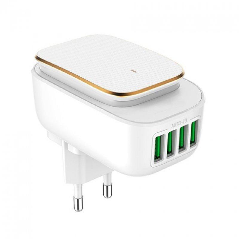Osca Connect OC4405 Cargador 4 USB 4.4A con Luz LED 2W