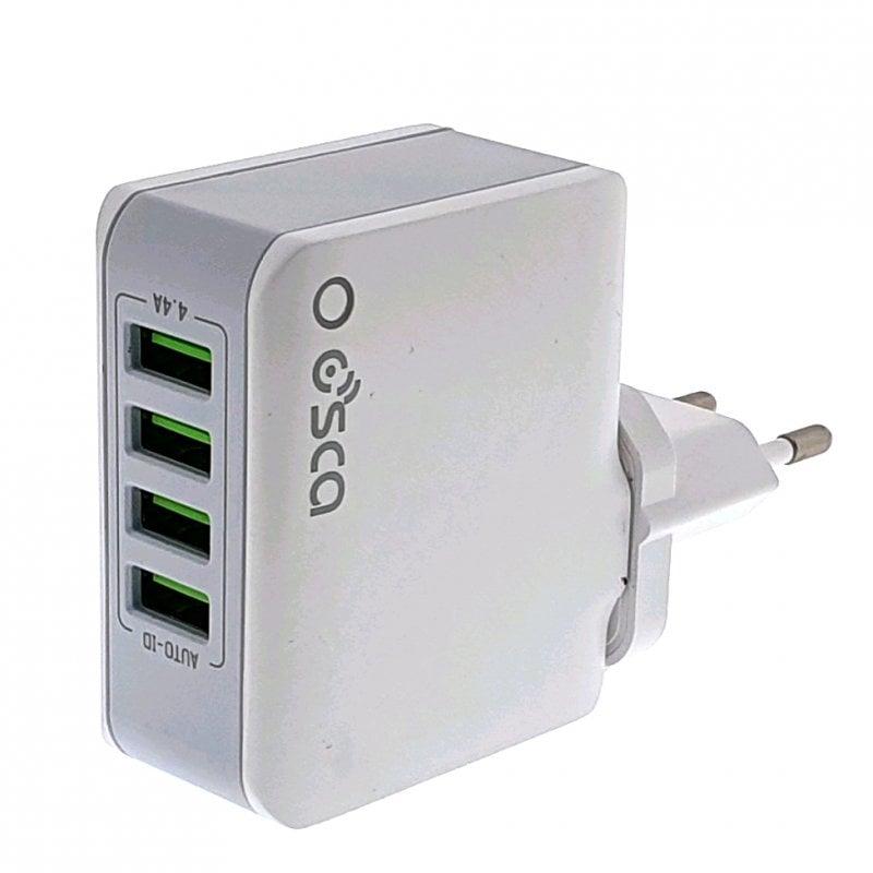 Osca Connect OCA4403 Cargador 4 USB 4.4A 22W