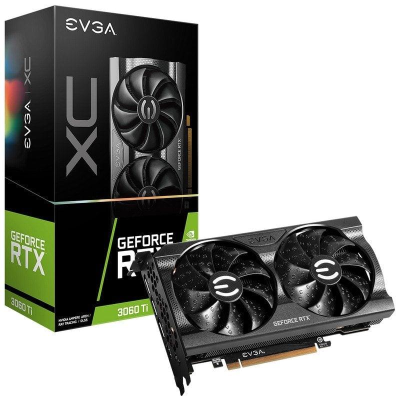 EVGA GeForce RTX 3060 Ti XC 8GB GDDR6 - Componentes-Tarjetas Gráficas-EVGA