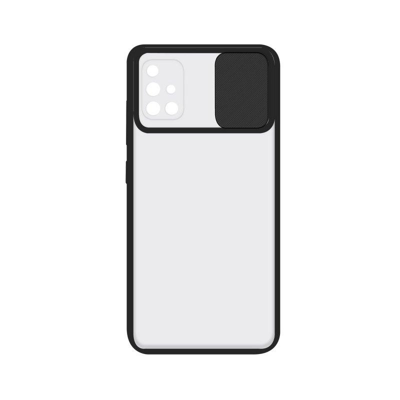 Ksix Funda Duo Soft Cam Protect Negra para Samsung Galaxy A71
