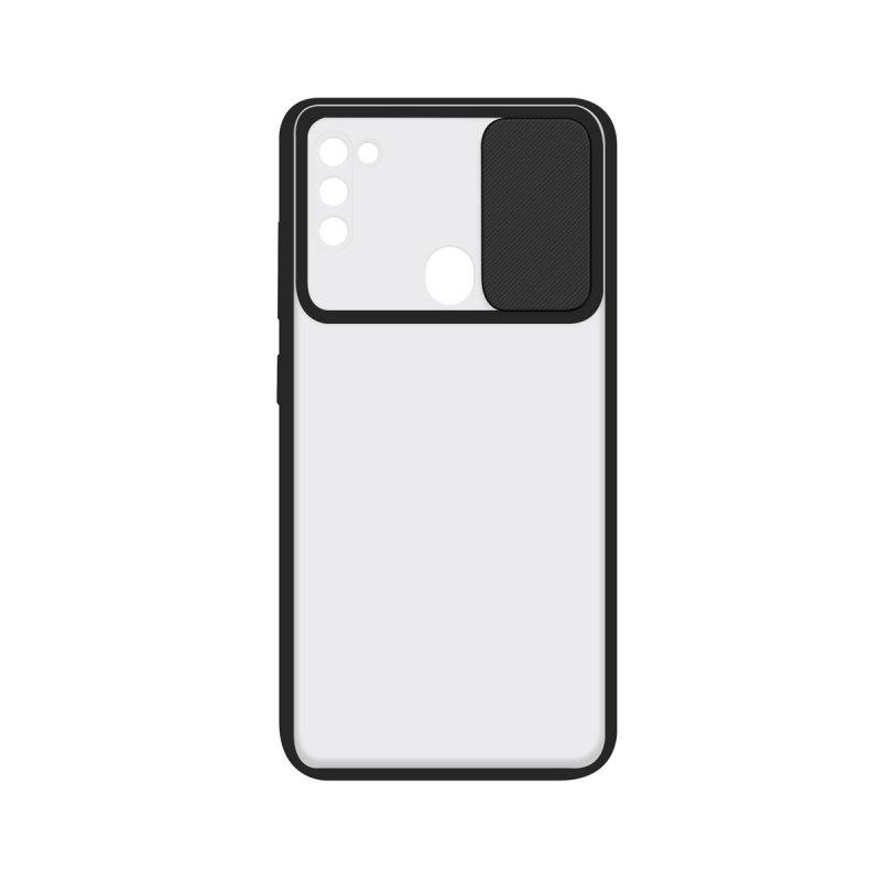 Ksix Funda Duo Soft Cam Protect Negra para Samsung Galaxy A21S