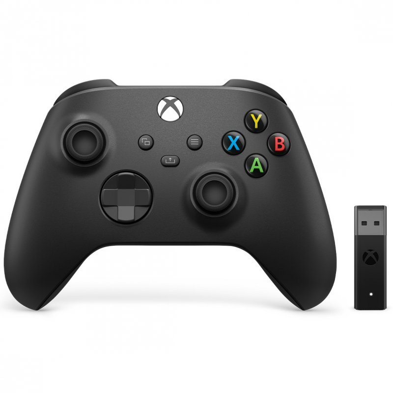 Microsoft Mando Inalámbrico Xbox Series/One/PC + Adaptador Inalámbrico para Windows 10