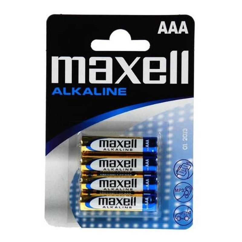 Maxell Pack 4 Pilas Alcalinas LR03 AAA 1.5V