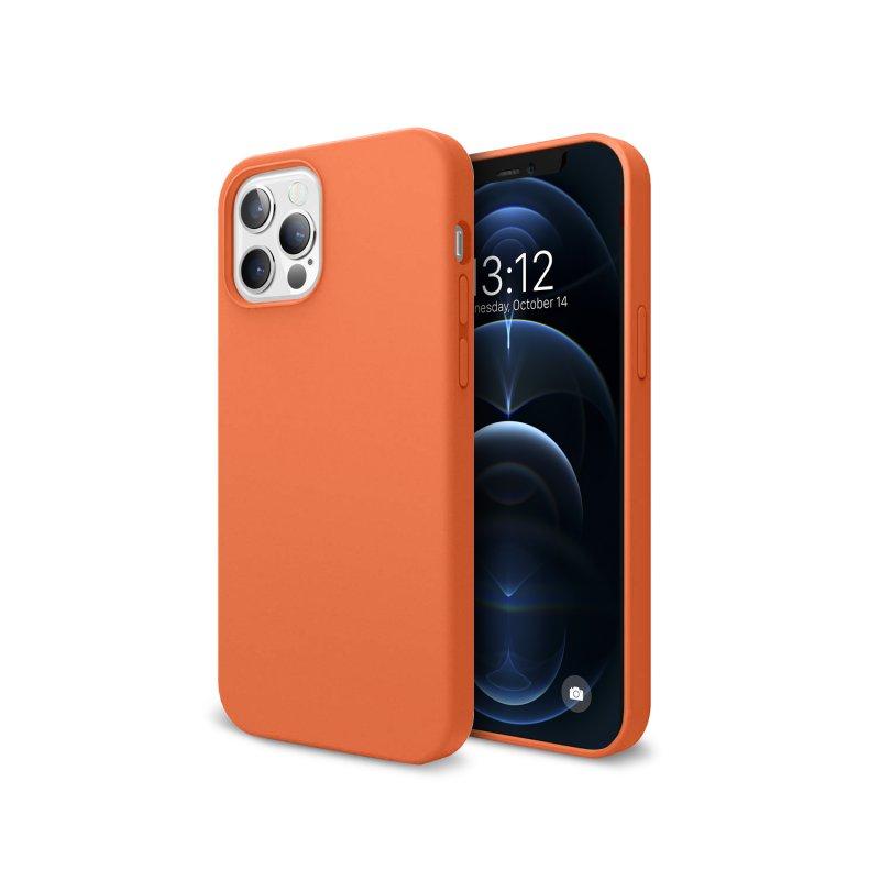 Nueboo Funda Soft Naranja para iPhone 12 Pro Max