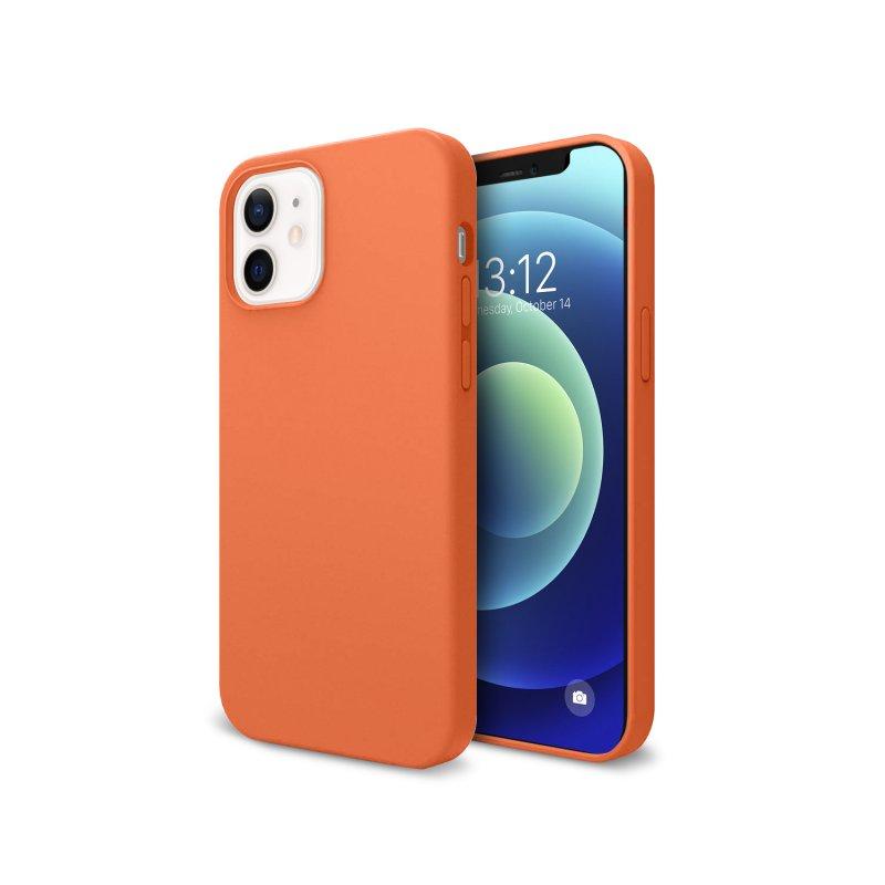 Nueboo Funda Soft Naranja para iPhone 12 Mini