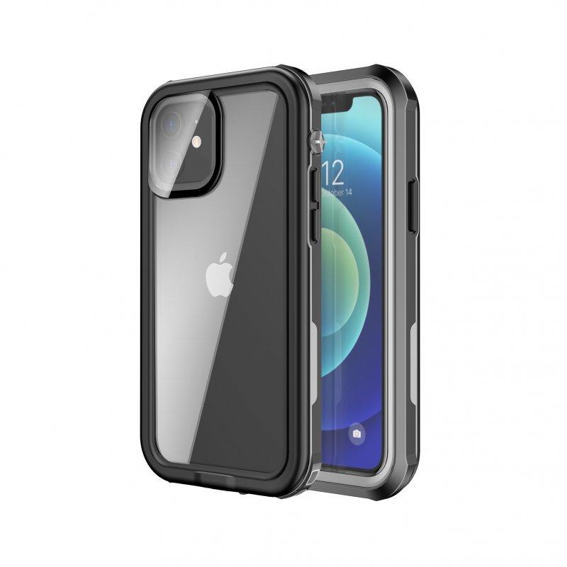 Nueboo Funda Waterproof Negra para iPhone 12 Mini