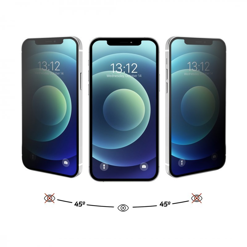 Nueboo Protector Cristal Templado Privacidad iPhone 12 Mini