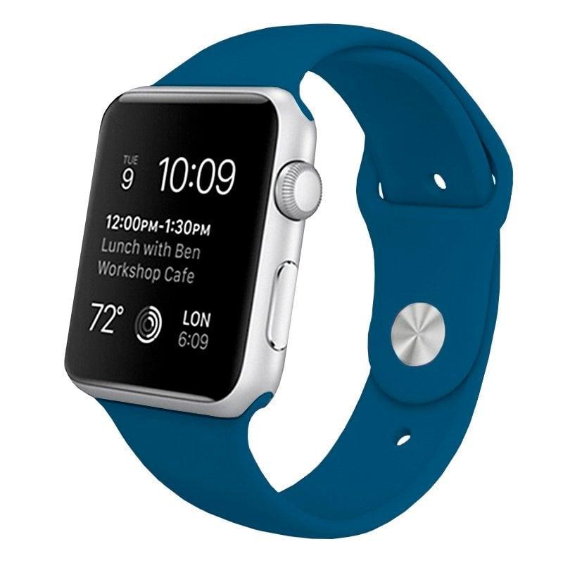 Cool Correa Goma Azul para Apple Watch Watch 42/44 mm Series 1/2/3/4/5/6/SE