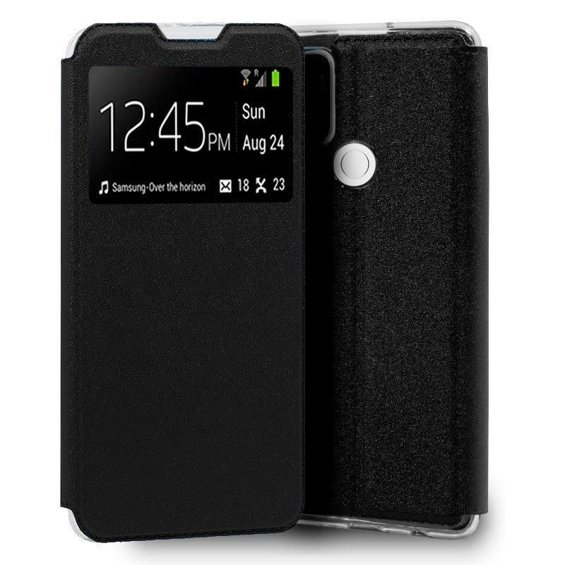 Cool Funda Flip Cover Liso Negro Para Oppo A53/A53s