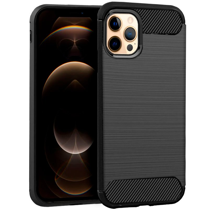 Cool Funda Carbón Negro Para IPhone 12 Pro Max