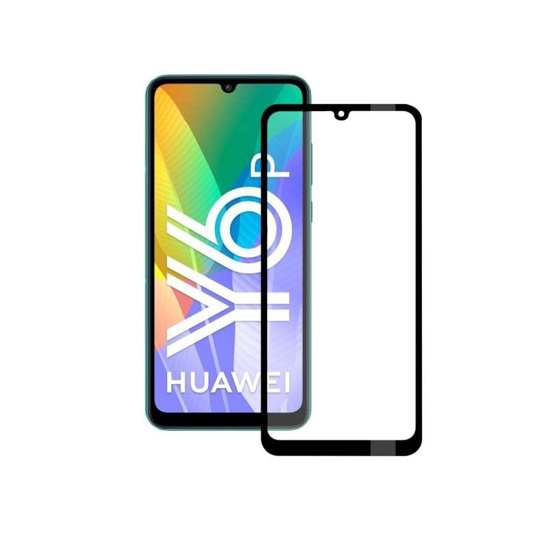 Ksix Cristal Templado 9H Full Glue 2.5D Borde Negro para Huawei Y6P