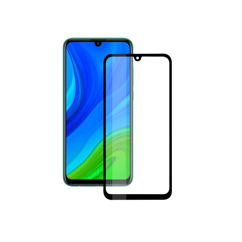 Ksix Cristal Templado 9H Full Glue 2.5D Borde Negro para Huawei P Smart 2020