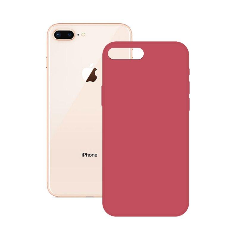 Ksix Soft Silicone Fucsia para iPhone 7/8/SE 2020
