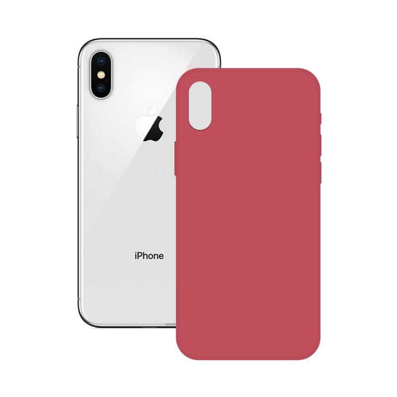Ksix Soft Silicone Fucsia para iPhone X/XS