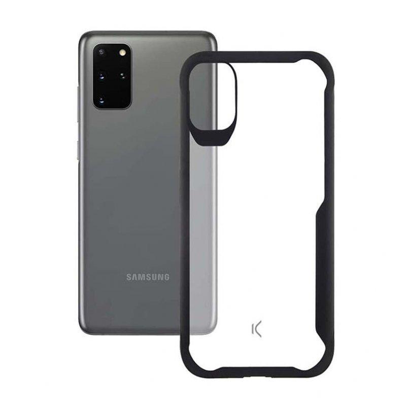 Ksix Flex Armor Funda TPU Transparente Borde Negro para Samsung Galaxy S20 Plus