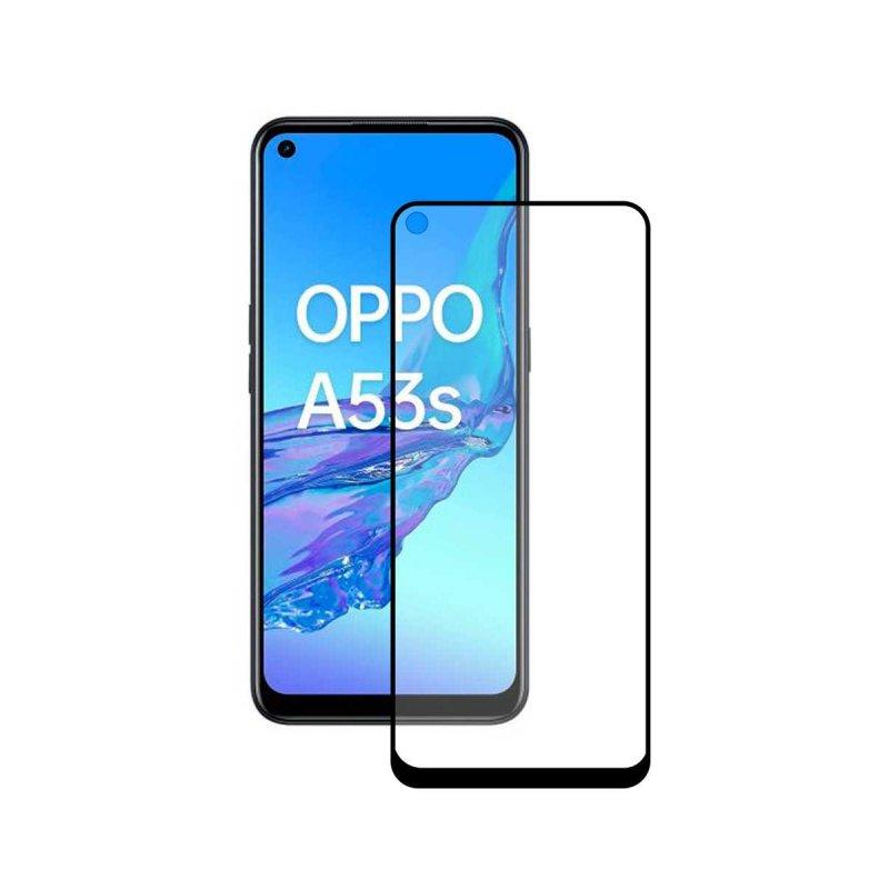Ksix Cristal Templado 9H Full Glue 2.5D Borde Negro para Oppo A53S