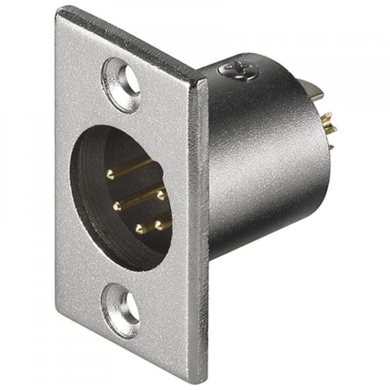 Goobay Conector Chasis Micrófono XLR 5pin Macho Gris