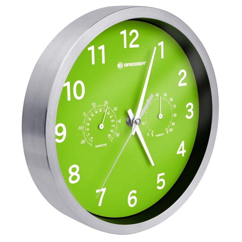 Bresser MyTime DCF Reloj Termohigrómetro 25cm Verde