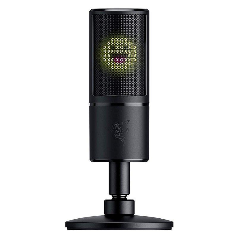 Razer Seiren Emote Micrófono Condensador USB con Pantalla LED Emoticonos 8 Bits